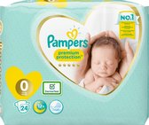 Pampers Premium Protection Luiers - Maat 0 (<3kg) - 24 stuks
