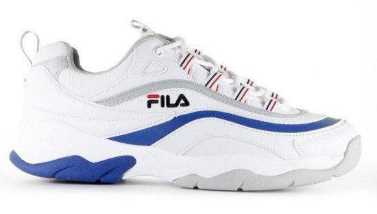 FILA Ray Low Wit/Blauw Heren Sneakers Wit Blauw | Kleur Wit Blauw| Maat 42