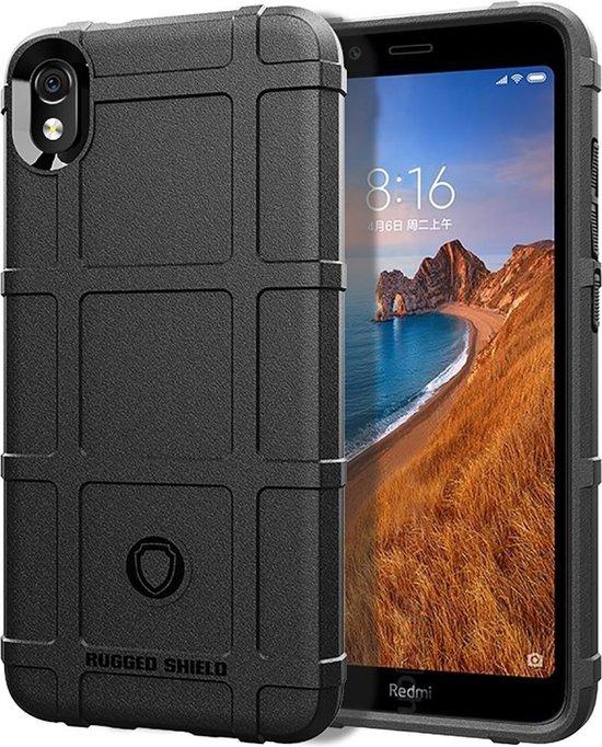 Schokbestendige beschermhoes Volledige dekking Siliconen hoesje voor Xiaomi Redmi 7A (zwart)