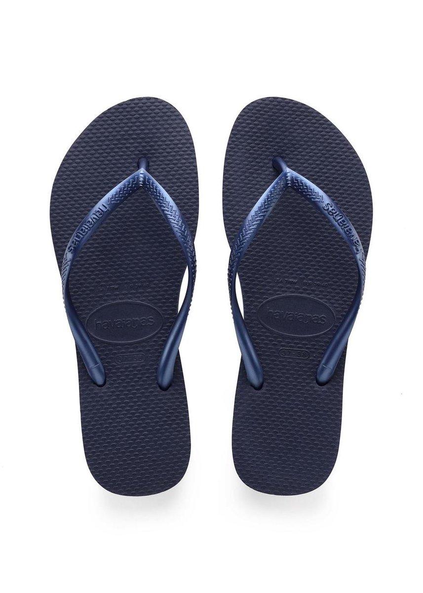 Havaianas Slim Dames Slippers - Navy Blue - Maat 39/40