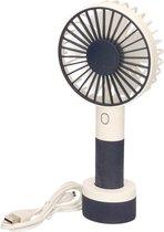 Draagbare USB hand ventilator met 3 snelheden - Zak/hand ventilatoren - Draagbare ventilator voor op kantoor