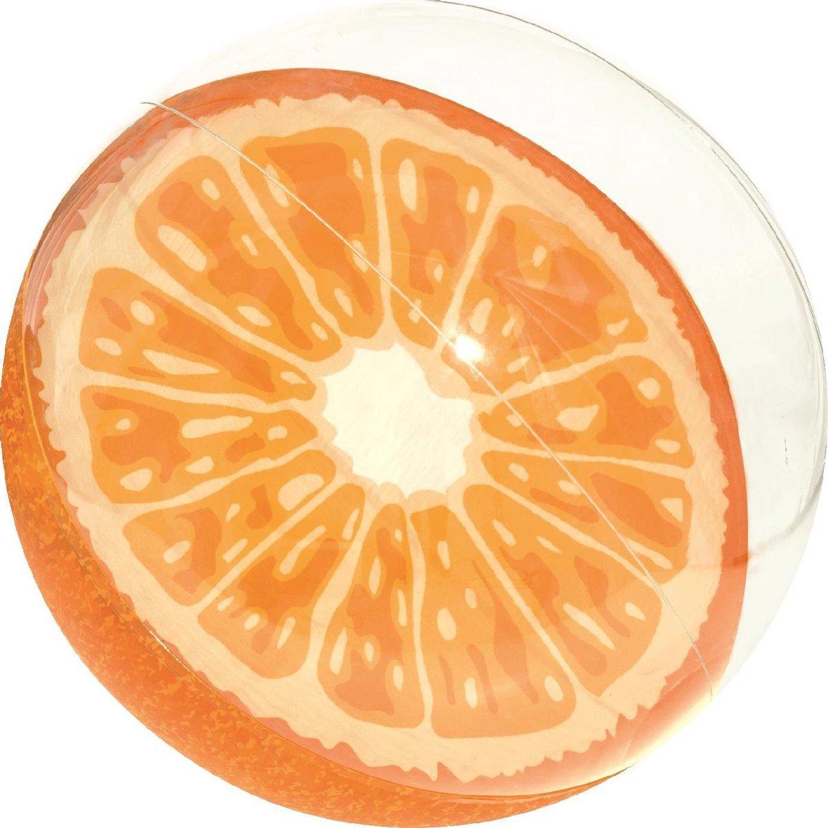 Opblaas Strandbal 'Fruity' 46 cm - sinaasappel