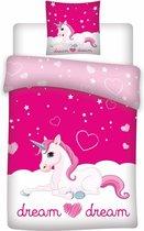 Unicorn Dream - Dekbedovertrek - Eenpersoons - 140 x 200 cm - Polyester