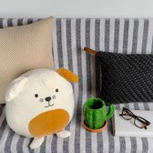 Cushion,Woof!,white,polyester