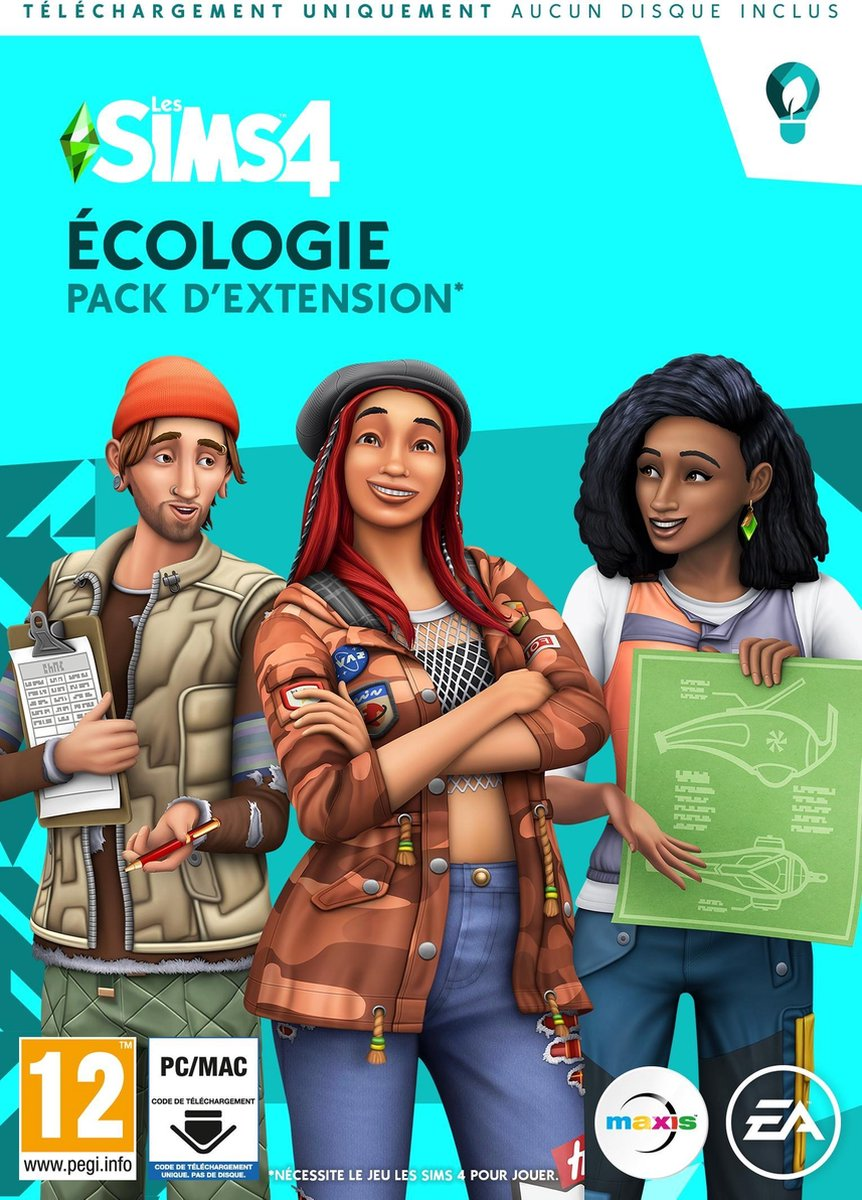 Sims 4 - Ecologisch leven - Extention Pack - PC (Franse uitgave) (code in box)