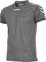 hummel Authentic T-Shirt Sportshirt Kinderen - Grijs - Maat 116