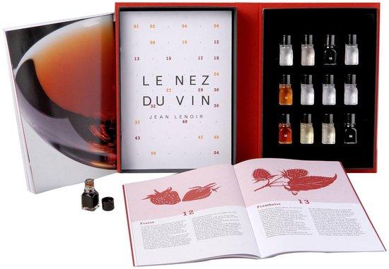 Koelkast: Le Nez du Vin geurdoos wijn - 12 Aroma's Rode Wijn (eng) Vaderdag tip, van het merk Jean Lenoir