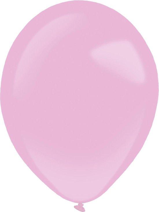 Amscan Ballonnen Pearl 12 Cm Latex Lichtroze 100 Stuks