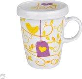 Uatt I Love Tea - Beker - Geel/Wit/Paars