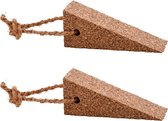 2x Deurstoppers / deurwiggen kurk - 4,5 cm - wig