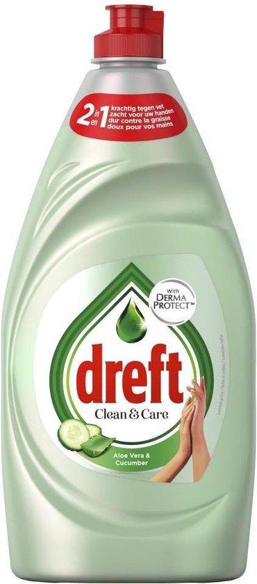 Dreft Clean & Care Aloe Vera & Cucumber Afwasmiddel - Voordeelverpakking 8x780ml