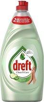 Dreft Clean & Care Afwasmiddel - Aloe Vera & Cucumber - 8 x 780ml - Voordeelverpakking