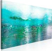 Schilderijen Op Canvas - Schilderij - Turquoise Landscape (1 Part) Narrow 135x45 - Artgeist Schilderij