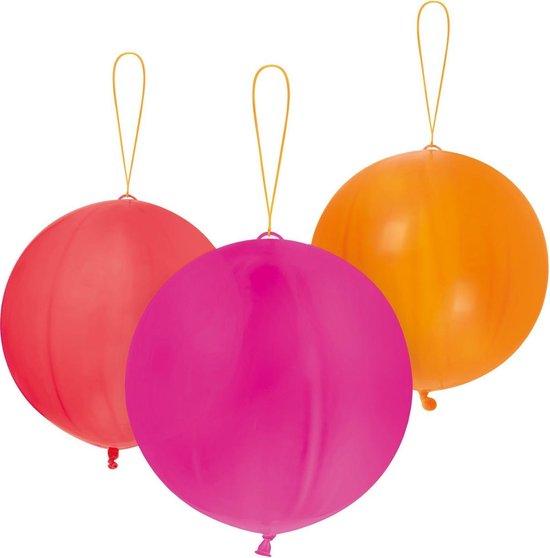 Amscan Punchballonnen 40,6 Cm Latex Roze/rood/oranje 6 Stuks