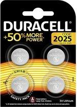 Duracell Specialty 2025 Lithium-knoopcelbatterij 3V, verpakking van 4 stuks (DL2025/CR2025)