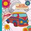 Afbeelding van het spelletje Glitter kleurplatenboek -  Road trip