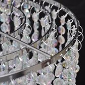 Kroonluchter - met kristallen - 22,5 x 30,5 cm - Transparant