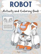 Robot Activity and Coloring Book