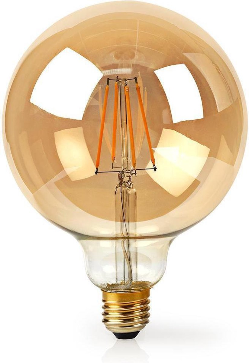 Dimabare Wi-Fi Slimme LED Filament Lamp   E27   125 mm   5 W   500 lm     Wit / Warm Wit   2200 K   Glas   Energieklasse: A+   Smartphone App