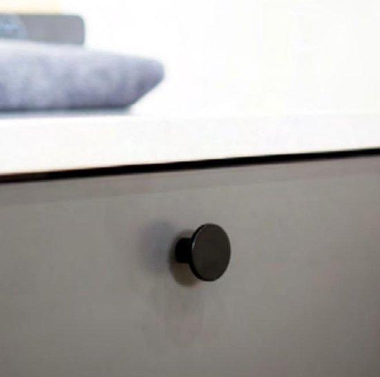 Knop mat Zwart Ø41 mm , keukenknop - kastknop - meubelknop - incl. schroeven - H008
