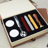 Wax Stempel Set - Zegellak - Sealing Wax with Stamp - Zegel Was - Wax Seal - Lakstaaf / Lakstaven / Lakstempel -