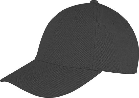 Result Unisex Core Memphis 6 Panel Baseball Cap (Pakket van 2) (Zwart)