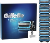 Gillette ProShield Chill Scheermesjes Voor Mannen - 9 Navulmesjes - Blauw