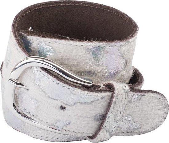 wit kleurige riem – Animal White/Silver – Dames Ceintures – Dames Riem – Riem – Ceintures – leren Riem – casual – Luxe riem – Ko kind – Kleding -…