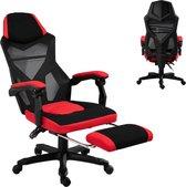 Game Stoel - Gaming stoel - Gaming chair - Met voetensteun - Racing style - Zwart/Rood