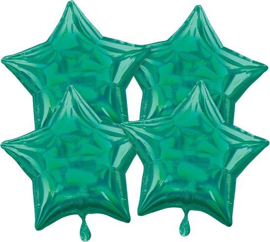 Amscan Folieballonnen Ster 41 Cm Groen 4 Stuks