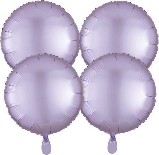 Amscan Folieballonnen Pastel Circle 43 Cm Lila 4 Stuks
