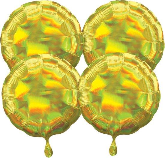 Amscan Folieballonnen Iridescent 41 Cm Geel 4 Stuks