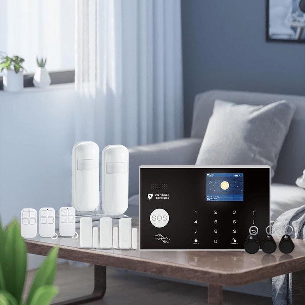 Alarmhub pro alarmsysteem - Smart Home Beveiliging - zonder camera - Keypad - Melding via app, SMS en oproep - SIM kaart - Slime alarmsysteem - Google home en Alexa - Uitbreidbaar