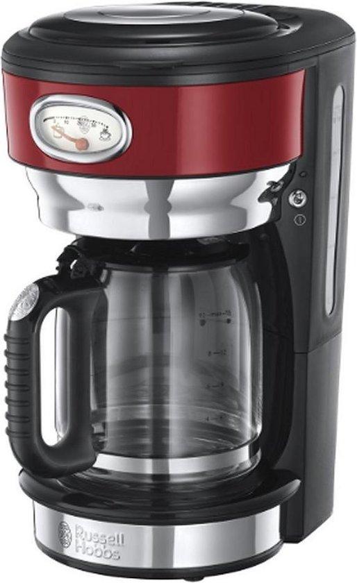 Russell Hobbs Retro - Groot Koffiezetapparaat - Ribbon Red
