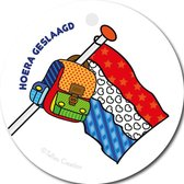 Tallies Cards - kadokaartjes  - bloemenkaartjes - Hoera geslaagd vlag - Popart - set van 5 kaarten - geslaagd - diploma - zwemdiploma - rijbewijs - 100% Duurzaam