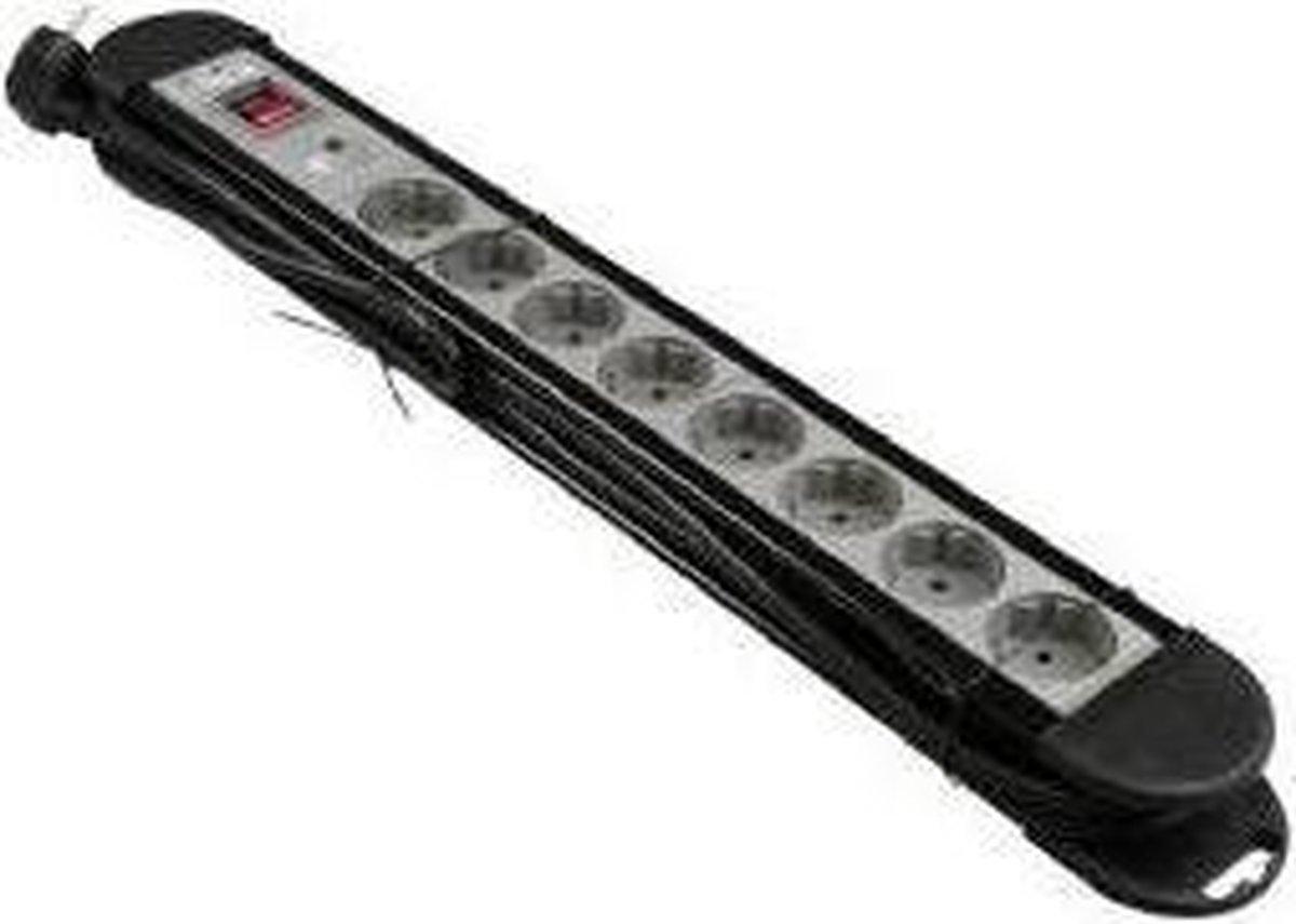 VB 61082 Tafelcontactdoos Pro 8-Voudig + RA 3M + Schakelaar