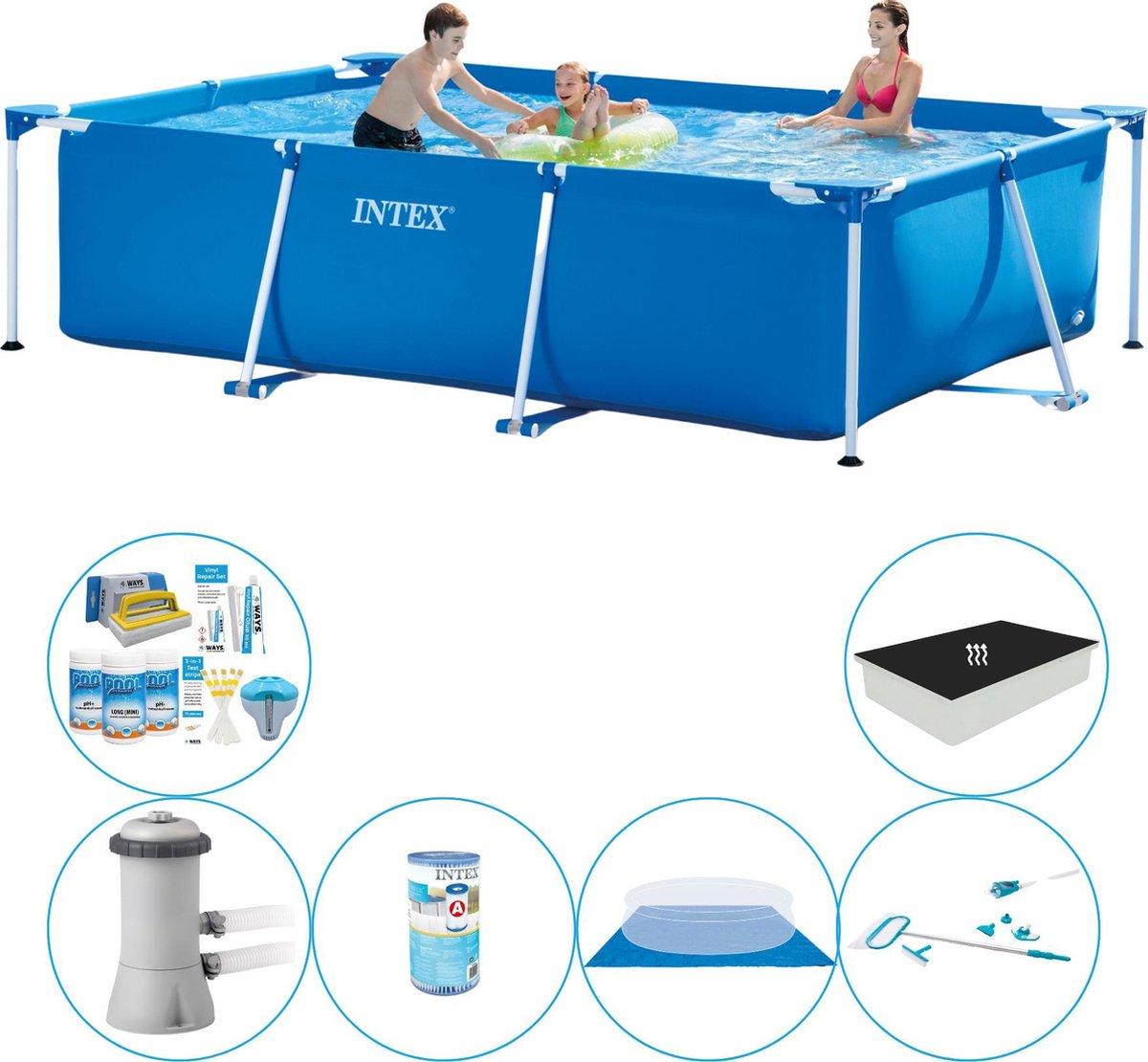 Intex Frame Pool Rechthoekig 300x200x75 cm - Zwembad Combinatie Set