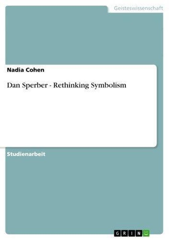 Boek cover Dan Sperber - Rethinking Symbolism van Nadia Cohen (Onbekend)