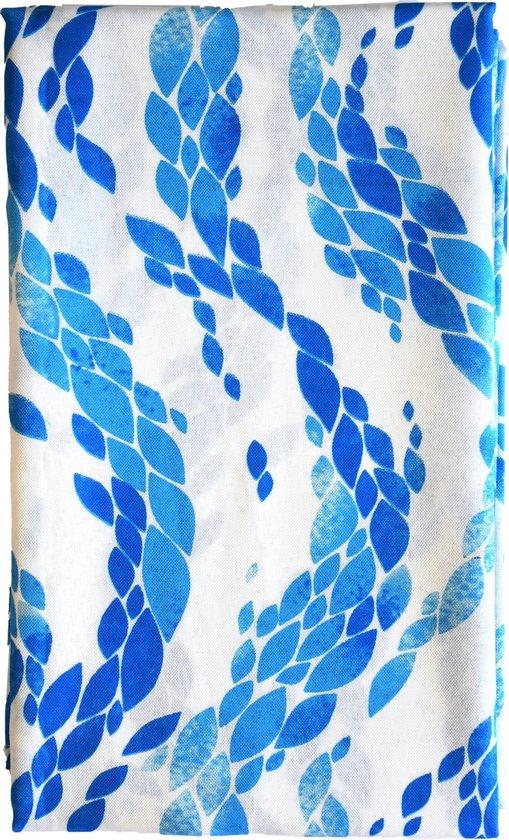 Siretessile Tafelkleed Sirtaki 120 X 160 Cm Katoen Blauw/wit