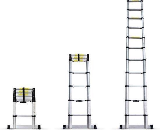 Telescopische Ladder 5.2 Meter - Met stabilisatiebalk - Aluminiu