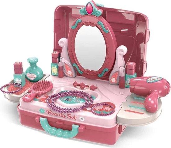 Beautyset kinderen- Make-upset meisje - Beautyset speelgoed - Makeupset speelgoed meisjes - Make-up koffer - Beautykoffer - Speelgoed kinderen