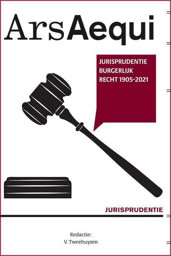 Boek cover Ars Aequi Jurisprudentie  -   Jurisprudentie Burgerlijk recht 1905-2021 van  (Paperback)