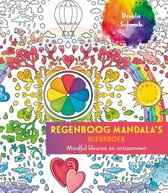 Regenboog mandala's kleurboek