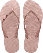 Havaianas Slim Glitter II Dames Slippers - Crocus Rose - Maat 37/38