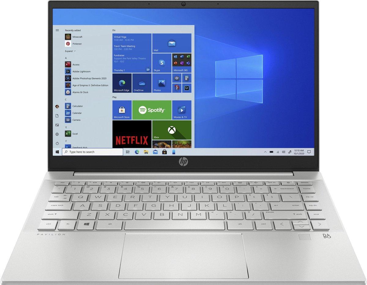 "HP Pavilion 14-ec0555nd DDR4-SDRAM Notebook 35,6 cm (14"") 1920 x 1080 Pixels AMD Ryzen 5 16 GB 512 GB SSD Wi-Fi 5 (802.11ac) Windows 10 Home Zilver"