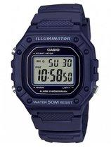 CASIO W-218H-2AVEF Casio Collection Horloge - Kunststof - Blauw - Ø 36x43 mm