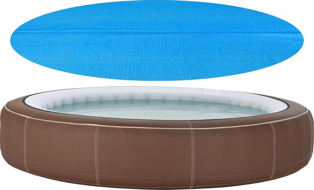 Zwembadafdekking zonnedoek rond PE blauw 244 cm