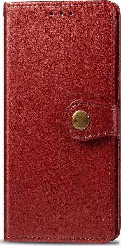 Mobigear Snap Button Bookcase voor de OPPO Find X2 Pro - Rood