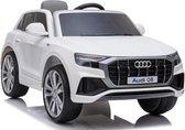 Audi Q8 Quattro S-LINE 12V - WIT, SoftStart, Multimedia - Elektrische Kinderauto - met Afstandsbediening