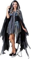 Duistere Halloweencape voor volwassenen - Accessoires > Capes - Zwart